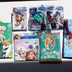 Disney Frozen 8 piece birthday lot